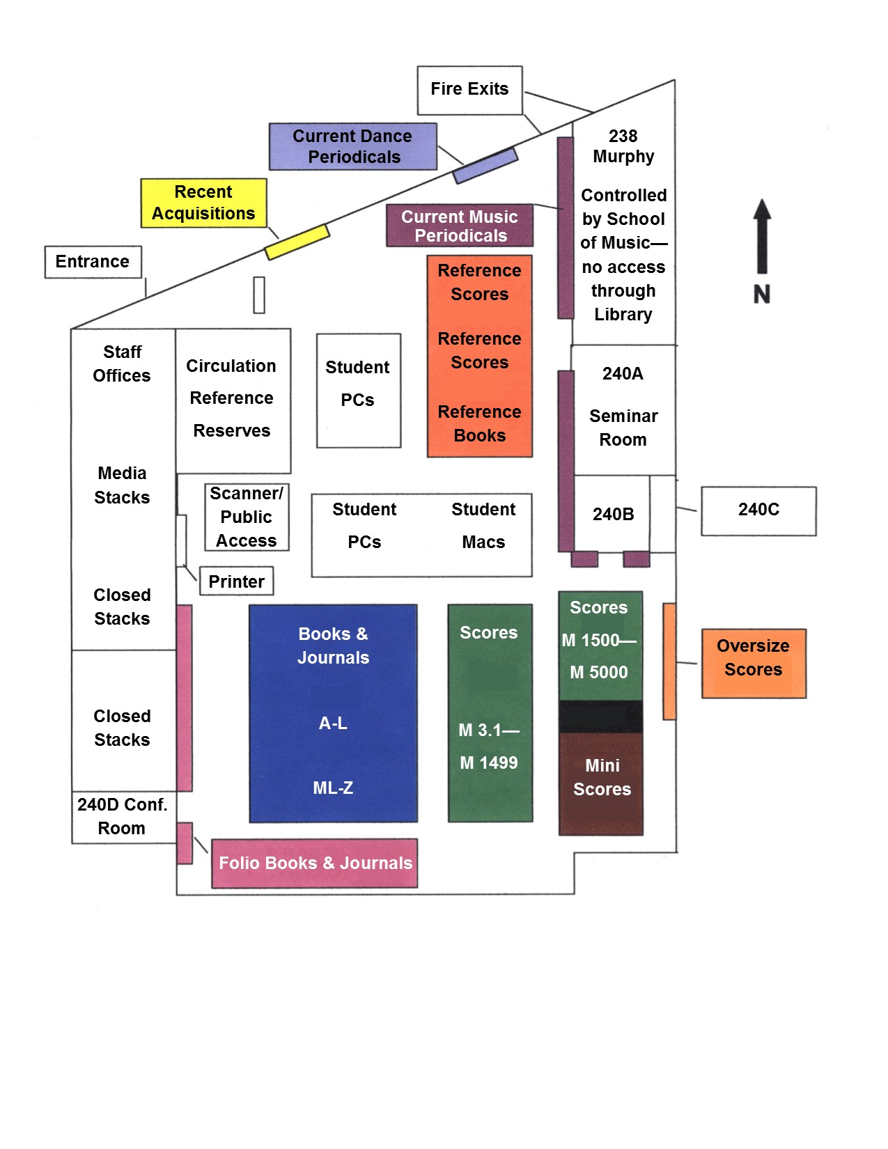 Music and Dance Library Floorplan