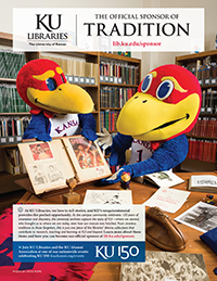 KU Libraries: The Official Sponsor of Tradition (appeared in September 2015 issue of Kansas Alumni magazine)
